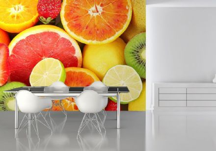 Fruits kitchen wall decor wallpaper mural
